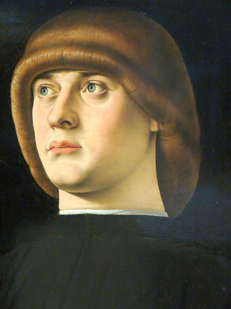 Прическа называлась - Тсатсера   (zazzera - shock of hair, mop).Была популярна в 80-90-х годах 15 века в Венеции.